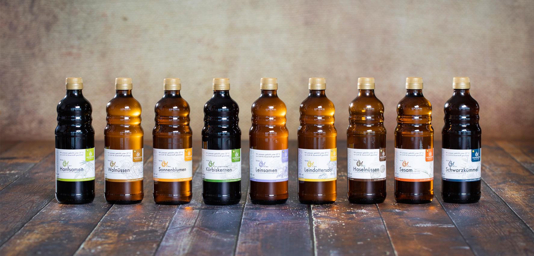 Verschiedene Öle
